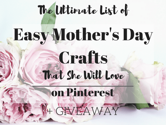 The Ultimate List of Easy Mothers Day Crafts On Pinterest | Mothers day | Kids Crafts