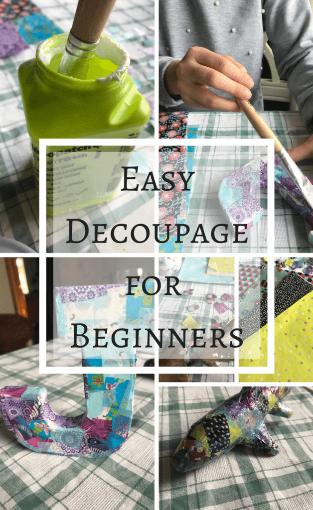 Easy Decopage project for beginners | Decopatch | simple craft idea for kids