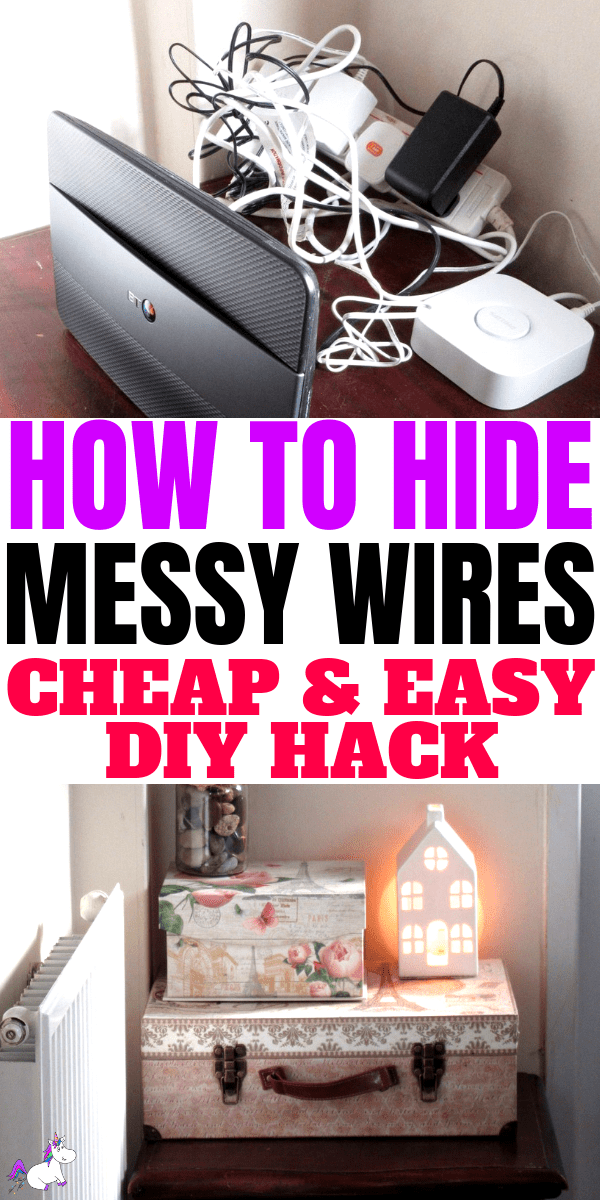 How To Hide Messy Wires Cheap & Easy DIY Hack | home decor | diy home decor | diy | life hack | cheap hack | easy hack | #diyhomedecor #diyprojects #lifehacks #messywires #homedecor