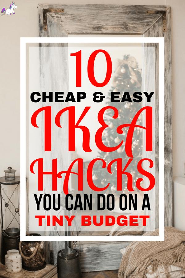 10 DIY Hacks From Ikea You Can Do On A Tiny Budget #ikea #ikeahack #homedecordiy #homedecor