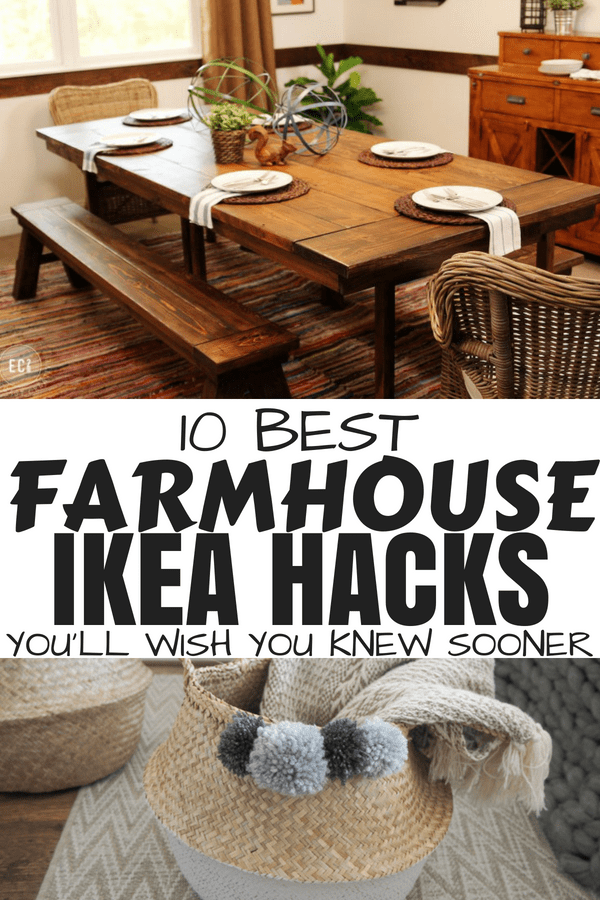10 best farmhouse ikea hacks #farmhouseomedecor #ikeahacks #diyhomedecor