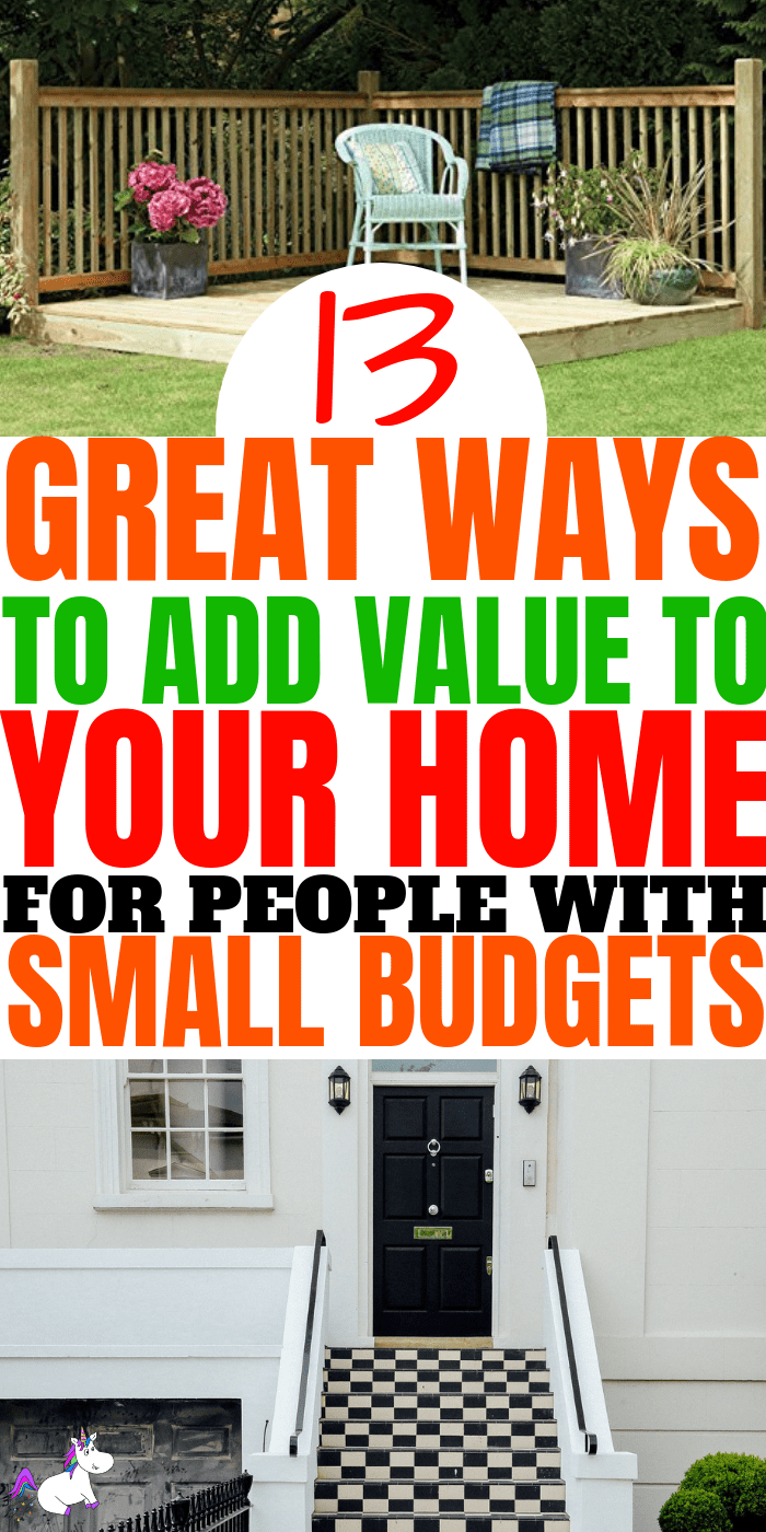 13 Ways To Add Value To Your Home For People On A Small Budget | Home improvement | Home decor | Diy home decor | Home improvemnet tips | Home decor inspiration | Home decor on a budget | House value #homeimprovement #homedecoronabudget #homedecor #diyhomedecor