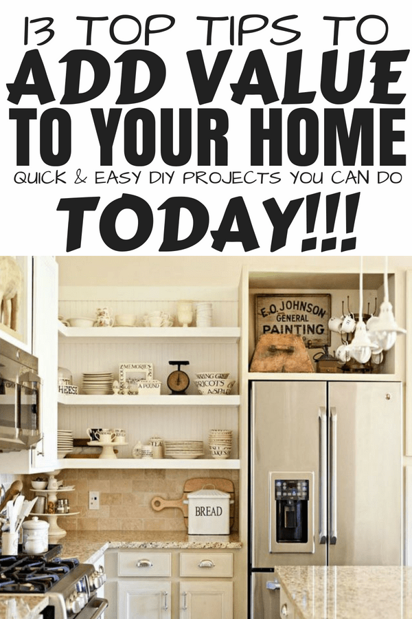 How to add value to your home #diyprojects #homedecor #increasehomevalue