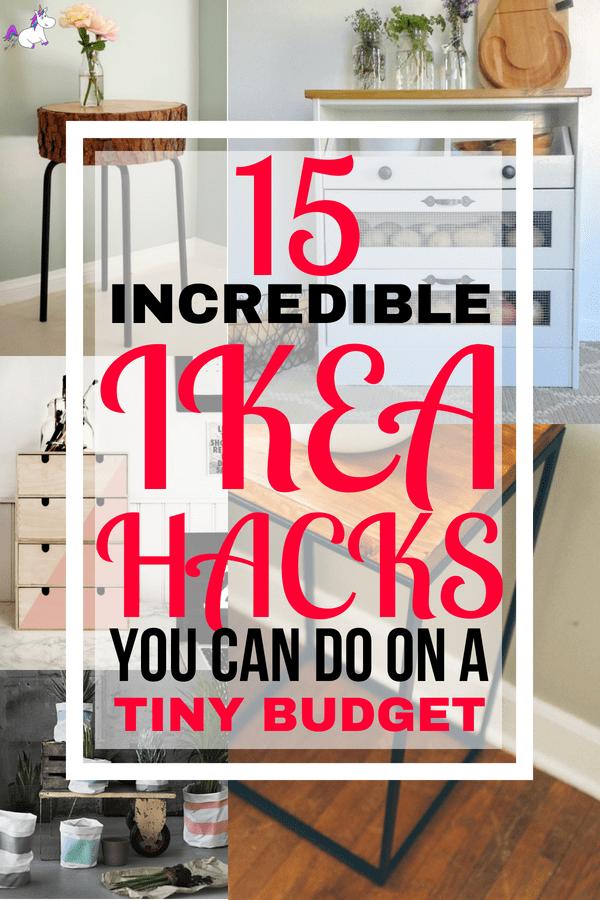 15 DIY Hacks From Ikea You Can Do On A Tiny Budget #ikeahacks #homedecorideas #homedecordiy #diy