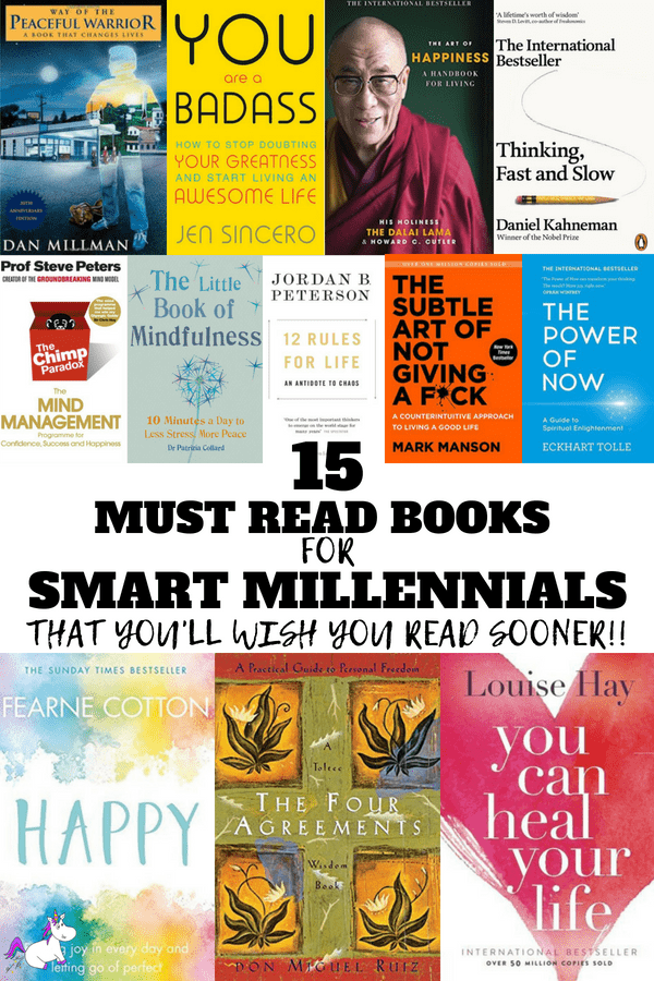15 must read books for smart millenials that you'll wish you read sooner #happpinessbooks #bookstoread #changemylife #positivity #howtobehappy