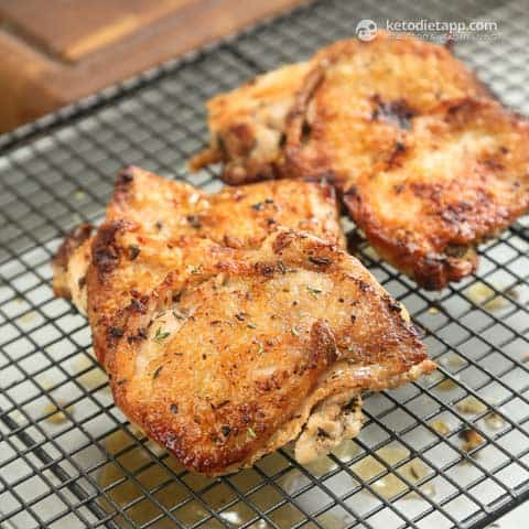 Extra Crispy Lemon & Thyme Chicken Thighs, ketogenic, keto food, bbq idea, recipes
