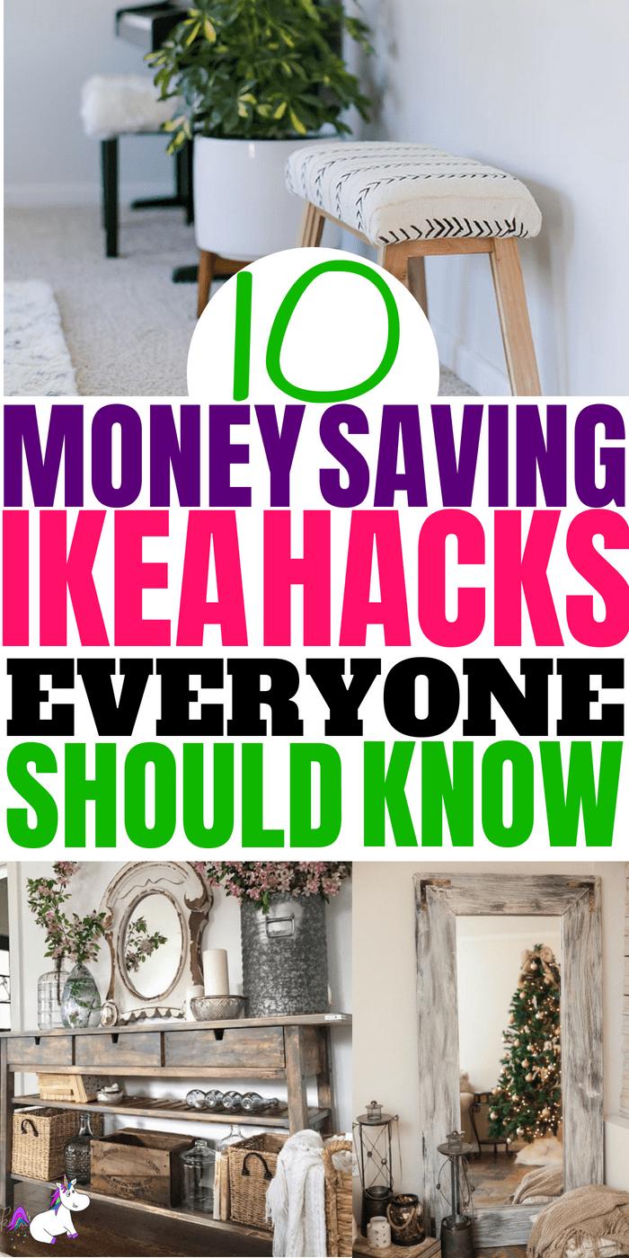 10 Stunning Ikea Hacks You Need To Try #ikea #ikeahacks #top10 #homedecor #homeinspiration