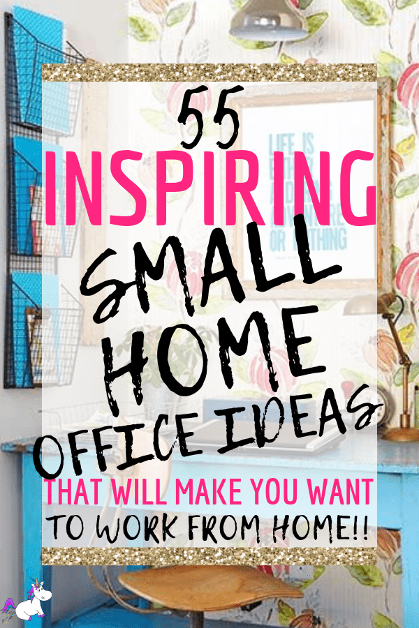 55 Inspiring Small Home Office Ideas That Will Make You Want To Work From Home #homeoffice #study #smallhomeoffice #studynook #homenook #themummyfront Via: https://themummyfront.com | study area | Small study | office nook