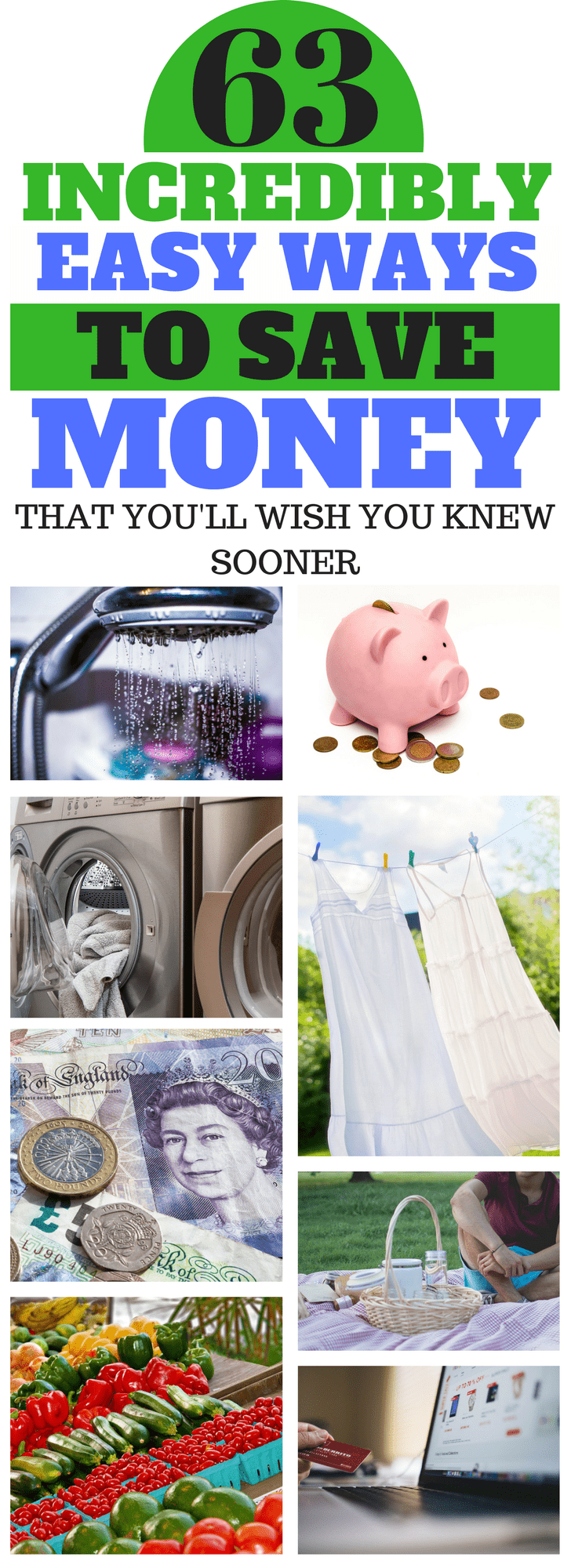 63 incredibly easy ways to save money that you'll wish you knew sooner #moneysaving #savemoney #savings #frugal #debt #budget #budgetingideas #budgetingforfamilies #savinghacks