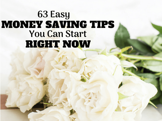 63 Frugal Ideas to start saving money right now #moneysavingtips #frugalliving #frugal #savings #getoutofdebt