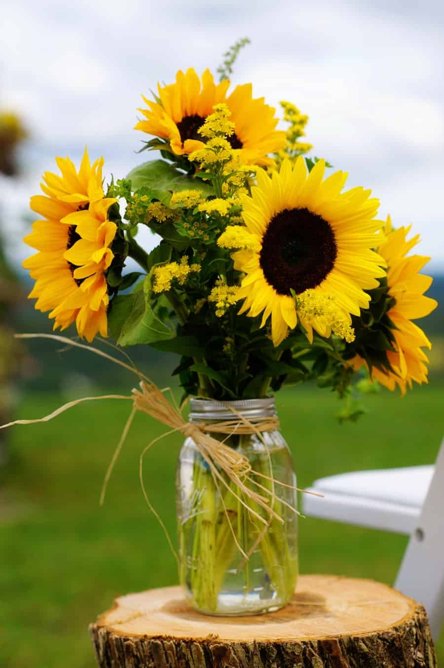 These bright yellow sunflowers are one of the best garden party ideas to try this year