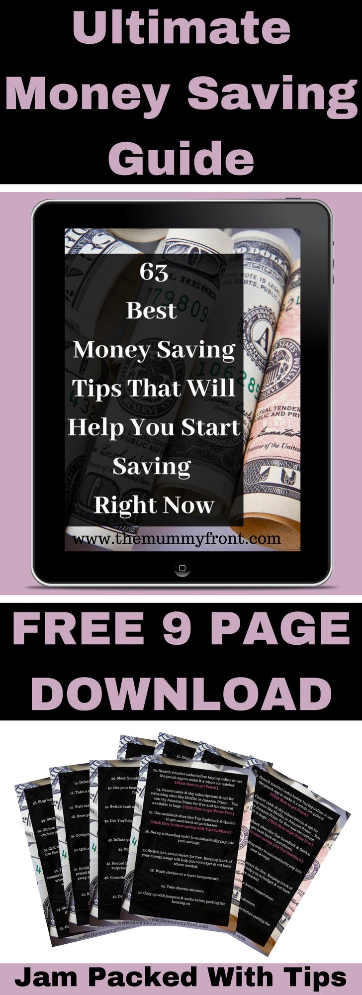 ultimate money saving tips #freedownload #moneysavingtips #money #debt #saving #debtfree #savingtips #frugalliving #frugal #freeprintable