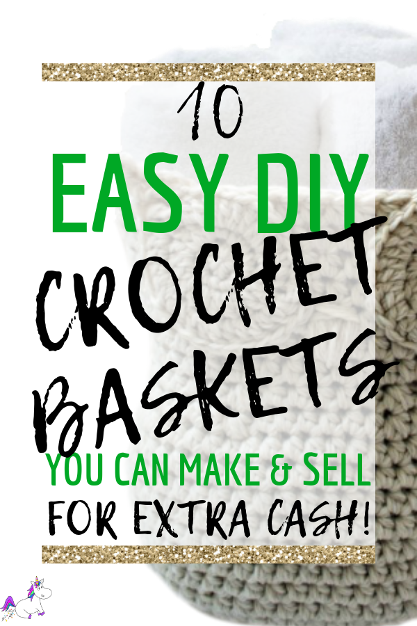 10 Easy DIY Crochet Baskets You Can Make And Sell For Extra Cash | hot crafts to sell | Crochet basket patterns | crafts to make and sell | Diy crafts | Creative DIY projects | Via: https://themummyfront.com #themummyfront #craftstomakeandsell #thingstoselletsy #etsycrafts #crochetpatterns #crochetbaskets