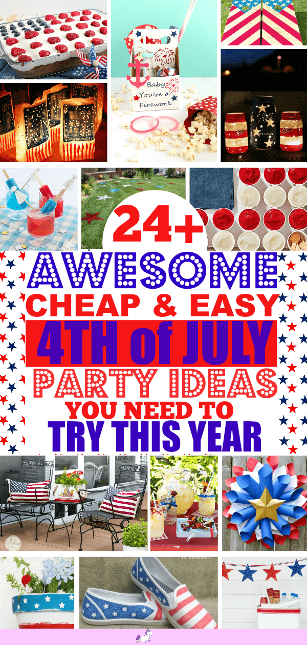 24 Stunning 4th of July Ideas You Need To Try... Everything you need for an amazing 4th of July Independence day #4thofjuly #4thofjulyideas #4thofjulyparty #fourthofjulydesserts #july4th #4thjulyparty #fourthofjulyfood #patrioticparty #fourthofjulydrinks #easyfourthofjulydesserts #patrioticdecorations #patrioticparty Fourth of July party ideas