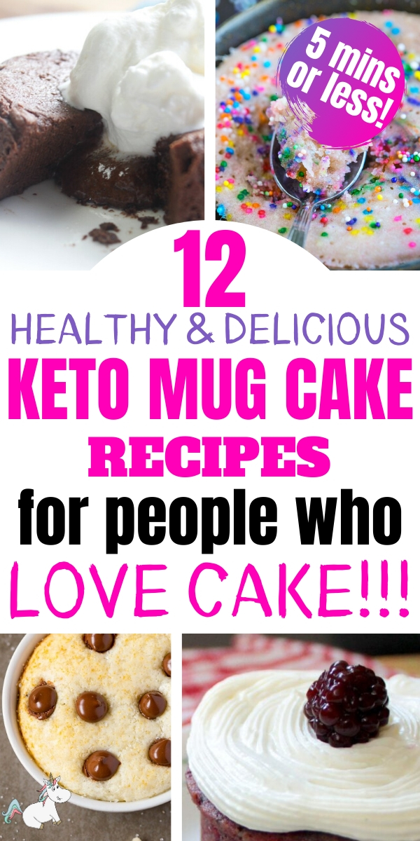 12 Healthy & Delicious Keto Mug Cakes For People who Love Cake!!! Are you following a low carb diet or want to satisfy your sweet tooth with a healthy cake recipe? Then you can't miss these easy mug cake recipes you can make in the microwave in less than 5 minutes! #ketomugcakes #mugcakes #keto #themummyfront