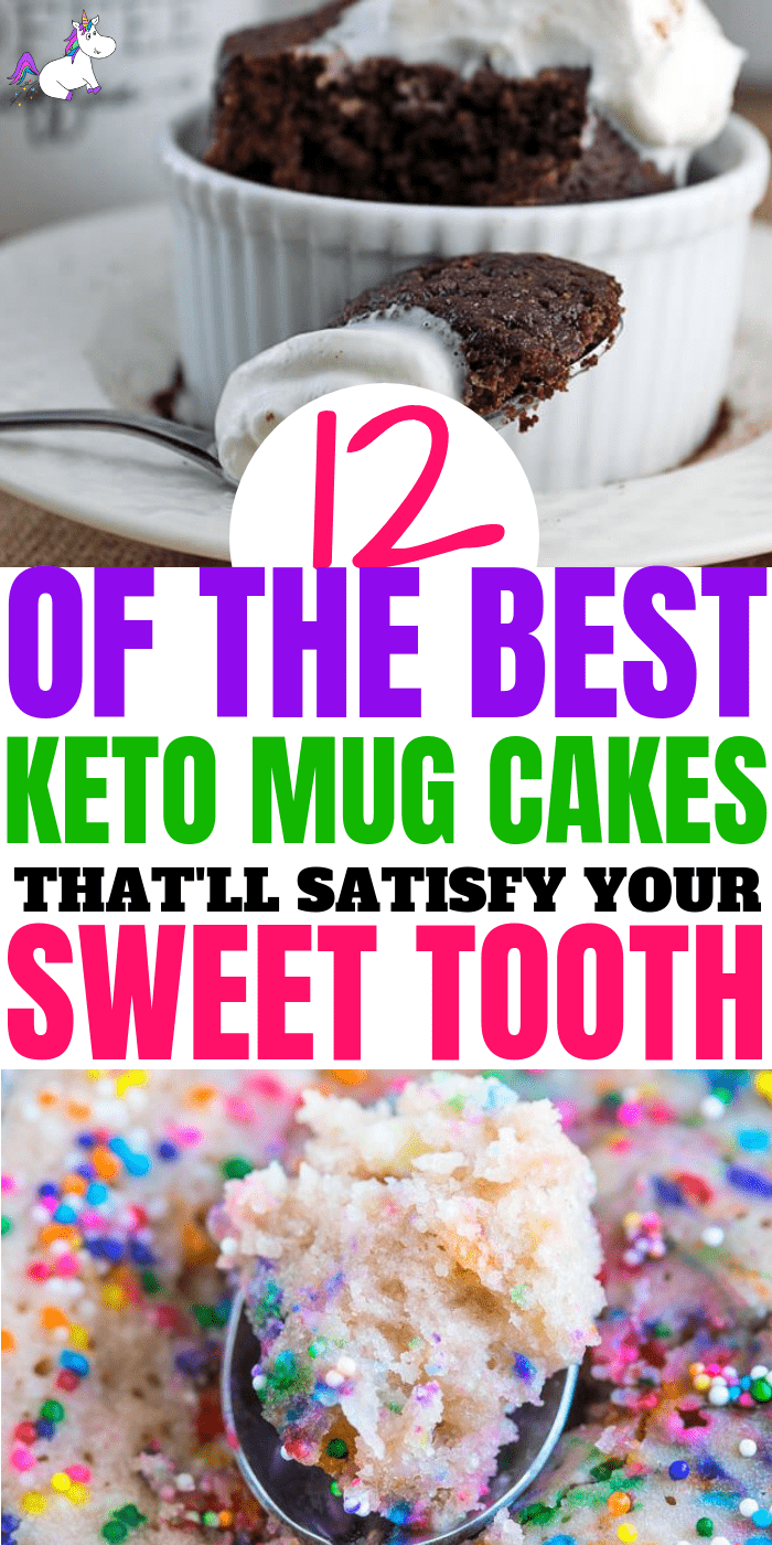 12 Of The Best Keto Mug Cakes That Will Satisfy Your Sweet Tooth When You're Following A Ketogenic Diet or Want To Eat Low-Carb & Low-Sugar Cakes