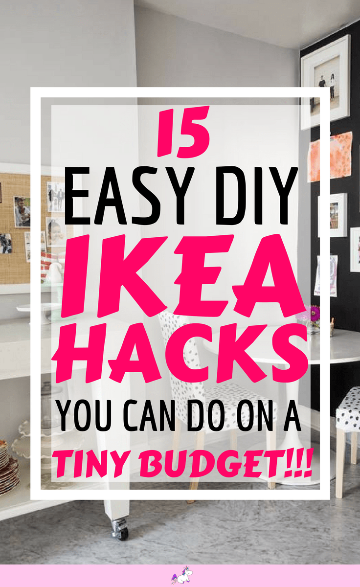 15 DIY Hacks From IKEA That You Can Do On A Tiny Budget #ikea #ikeahack #ikeahacks #homedecoronabudget