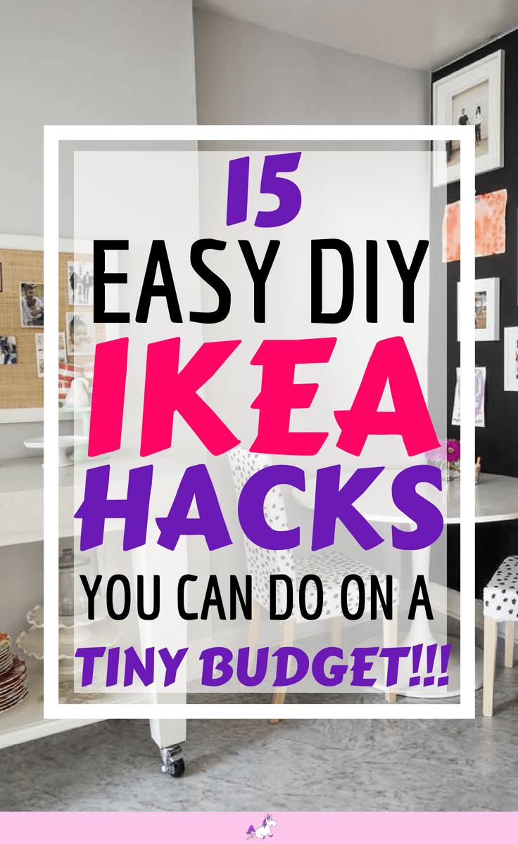 15 DIY Hacks From IKEA That You Can Do On A Tiny Budget #ikea #ikeahack #ikeahacks #diy