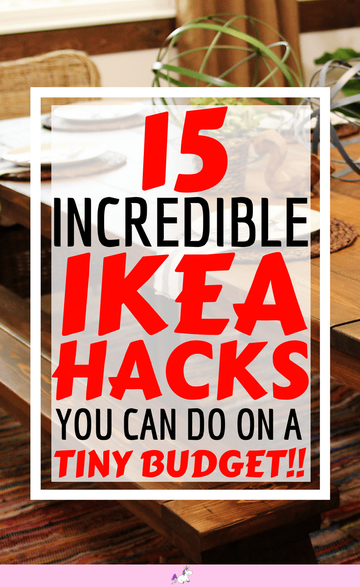 15 DIY Hacks From IKEA That You Can Do On A Tiny Budget #ikea #ikeahack #ikeahacks #diy