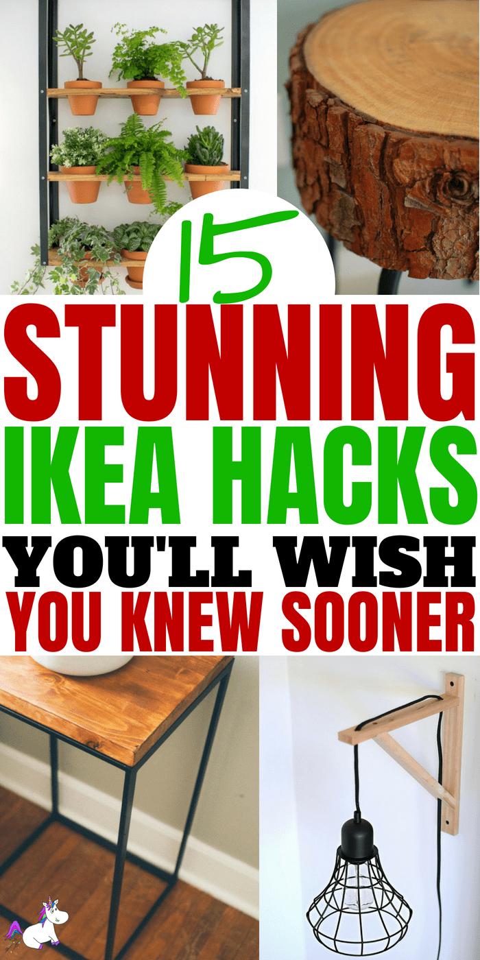 15 DIY Hacks From IKEA That You Can Do On A Tiny Budget #ikea #ikeahack #ikeahacks #homedecordiy