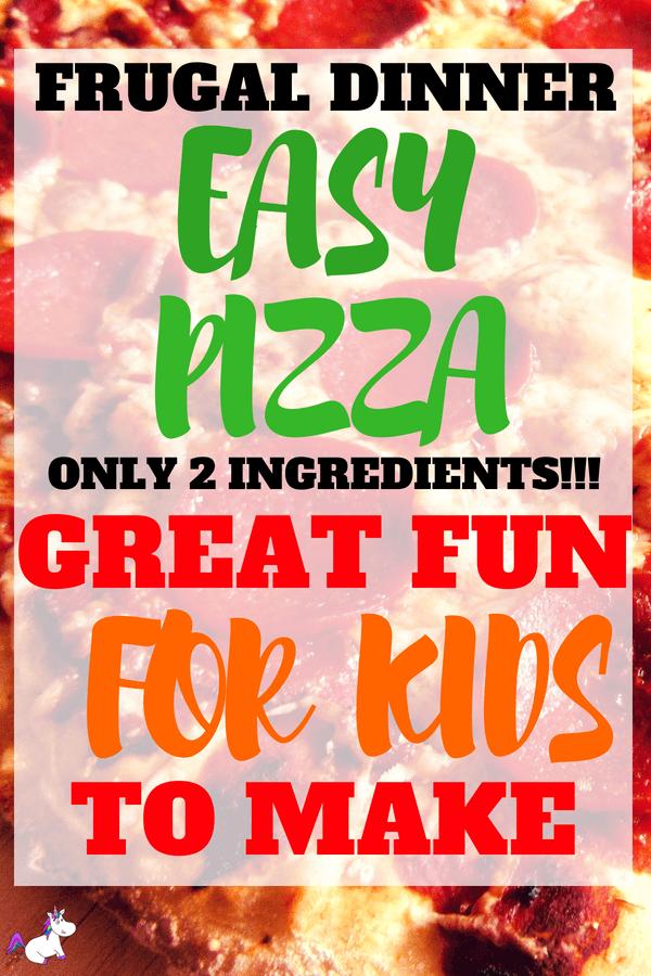 Homemade Pizza Recipe | With Foolproof 2 Ingredient Pizza Dough! #frugaldinneridea #activitiesforkids #easyrecipe