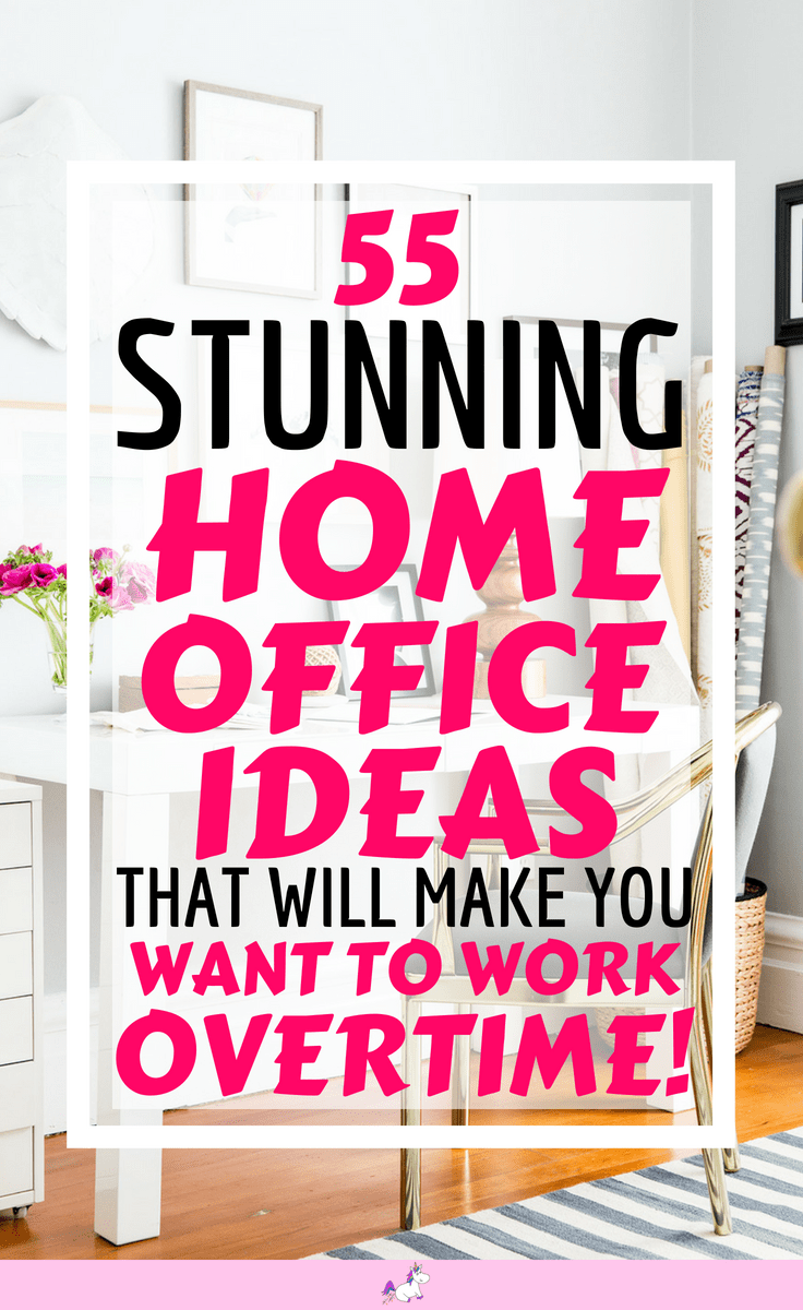 55 Small Home Office Ideas that Will Make You Want To Work Overtime! #homeoffice #smallhomeoffice #smallspaceideas #homeofficeideas #howtocreateahomeoffice