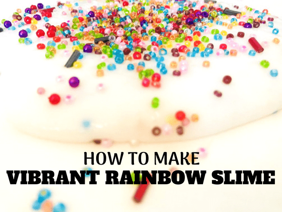 How to make vibrant rainbow slime #slimerecipe #rainbowslime #easyslime