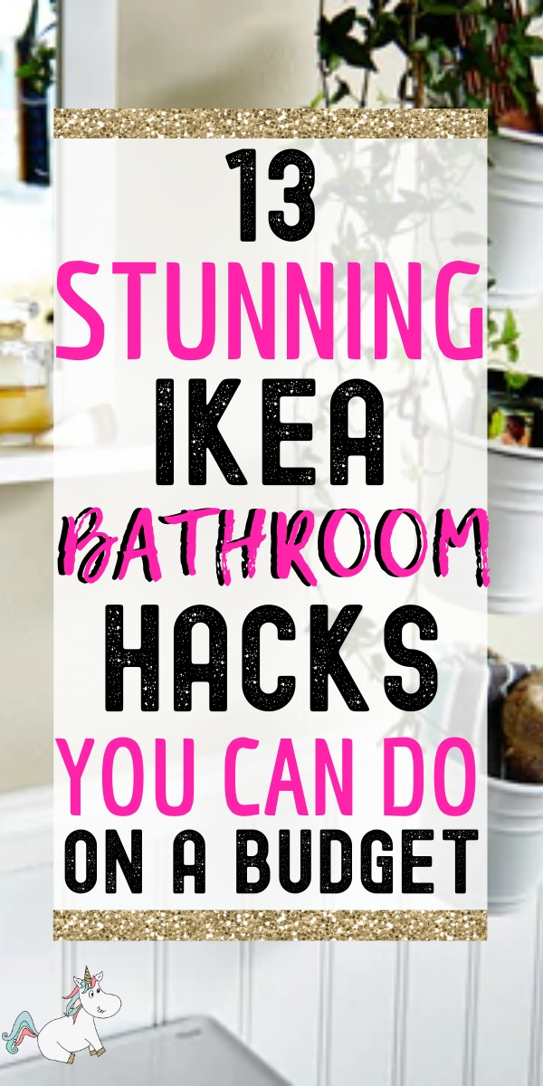 13 Stunning Ikea Bathroom Hacks You Can Do On A Budget! Are you looking to give your bathroom decor a beautiful makeover but want to be savvy with your money? Well look no further than these Ikea Hacks for your bathroom! These DIY bathroom decor ideas will save you money and have your wash room looking stunning in no time! Click the pin to learn more about these creative DIY ideas....