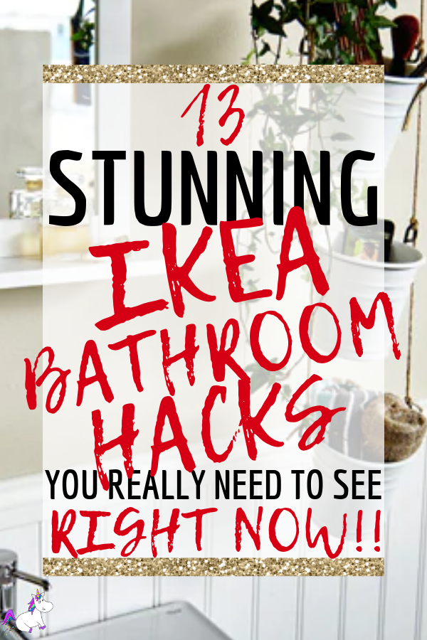 13 Stunning Ikea Bathroom Hacks You Really Need To See Right Now! If you are looking for bathroom design ideas that will improve your bathroom organization, storage & appearance then you will love these DIY Ikea Hack ideas! #ikea #ikeahacks #diyhomedecoronabudget