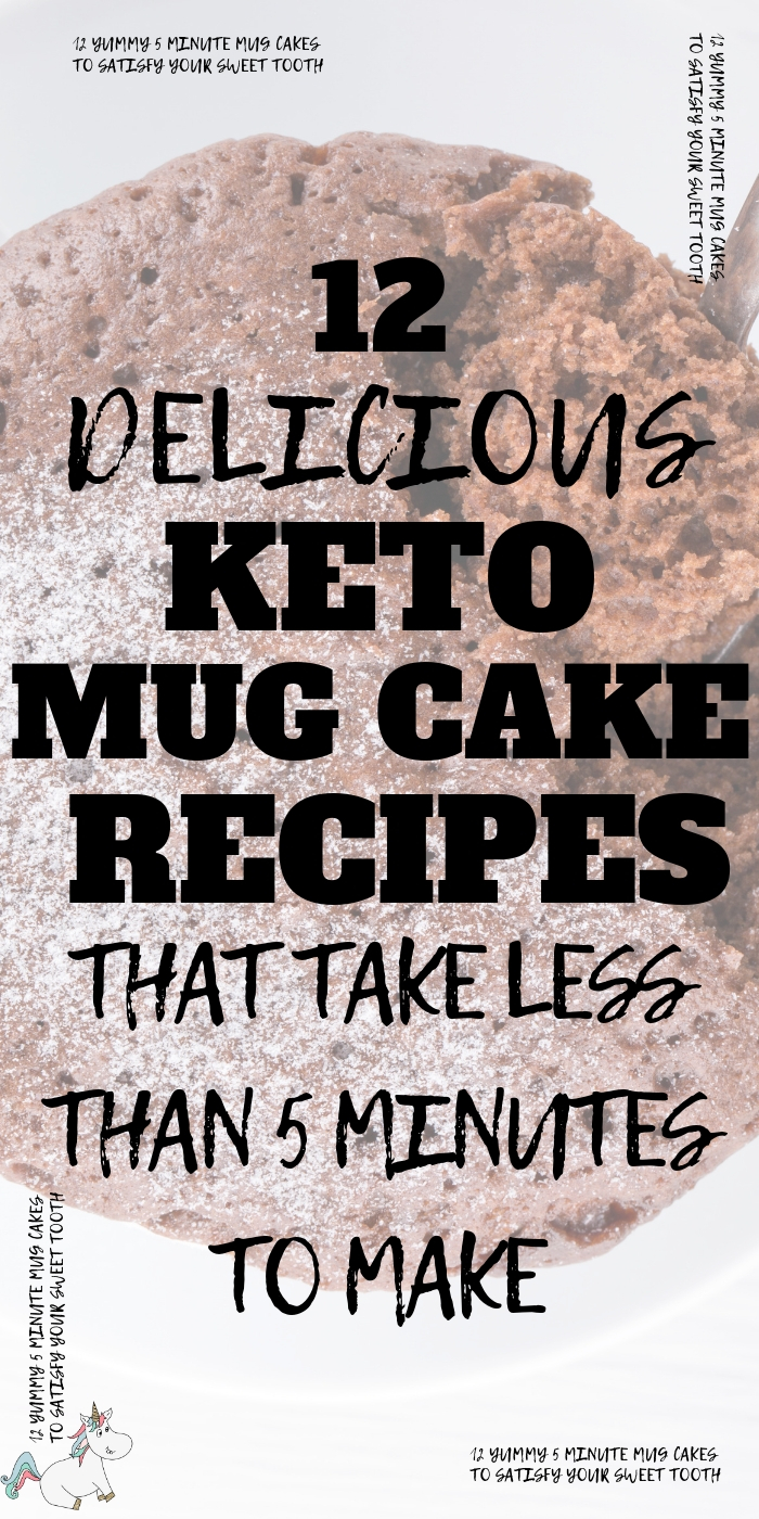 12 Delicious and Easy Keto Mug Cake Recipes That Take Less Than 5 Minutes To Make. If you're looking for the perfect keto mug cake recipe then look no further than these seriously yummy keto mug cakes that will satisfy your sweet tooth in less than 5 mins! Click to check them out! #themummyfront