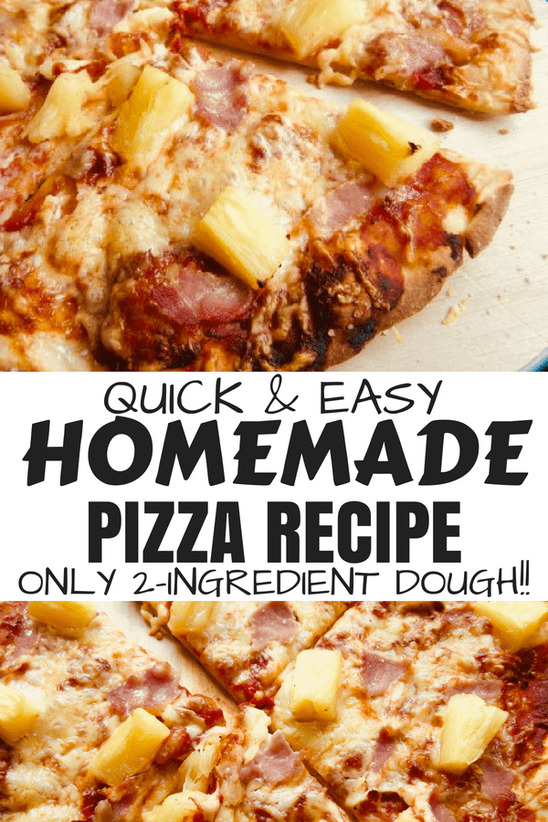Homemade pizza recipe | With Foolproof 2 Ingredient Dough #bestpizzarecipe #homemadepizza #2ingredientpizzadough #pizzatoppings #pizzasauce