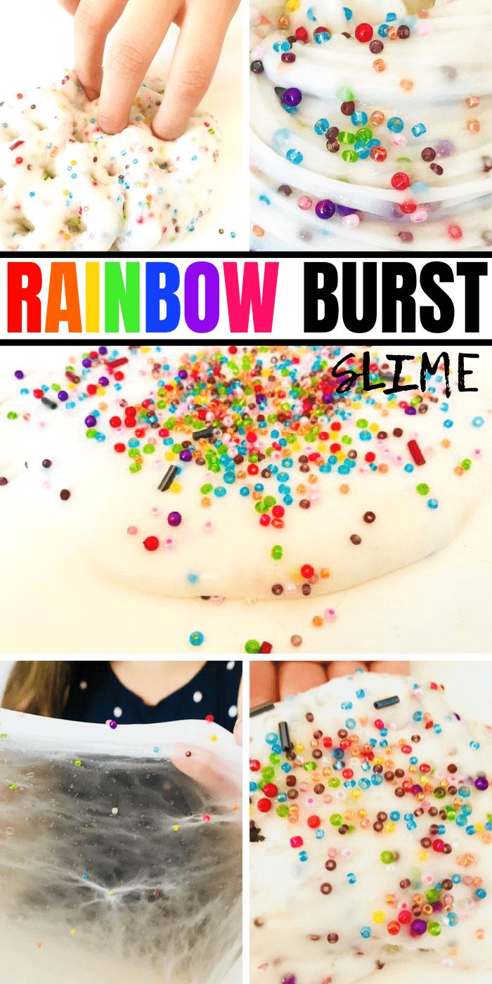 How to make rainbow burst slime #slimerecipe #bestslime #easy #kidscrafts