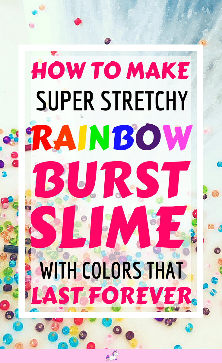 How to make rainbow burst slime #withcontactsolution #asmr #satisfyingslime #easy #slimerecipe