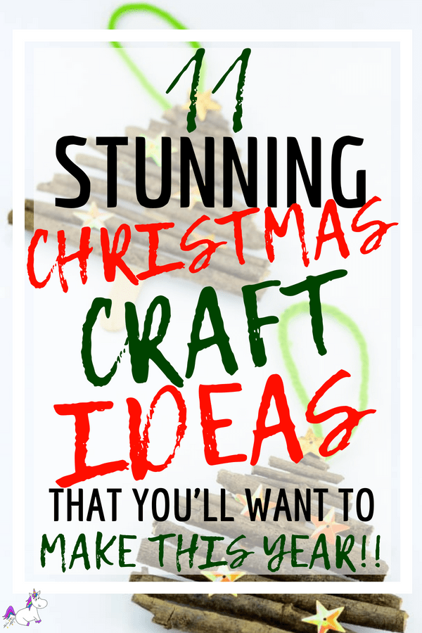 11 Stunning Christmas Craft Ideas That You'll Want To Make This Year including Twig Christmas Trees, Craft Ideas For Kids & Christmas Decorations For the Home