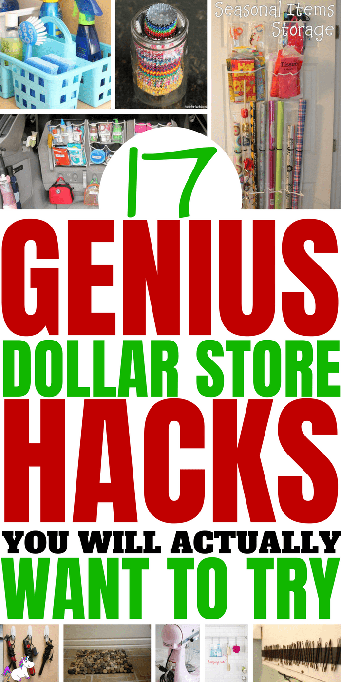17 Genius Dollar Store Hacks That You Really Should'nt Miss #dollarstorehacks #lifehacks #organizationhacks #moneysavingideas #homedecor