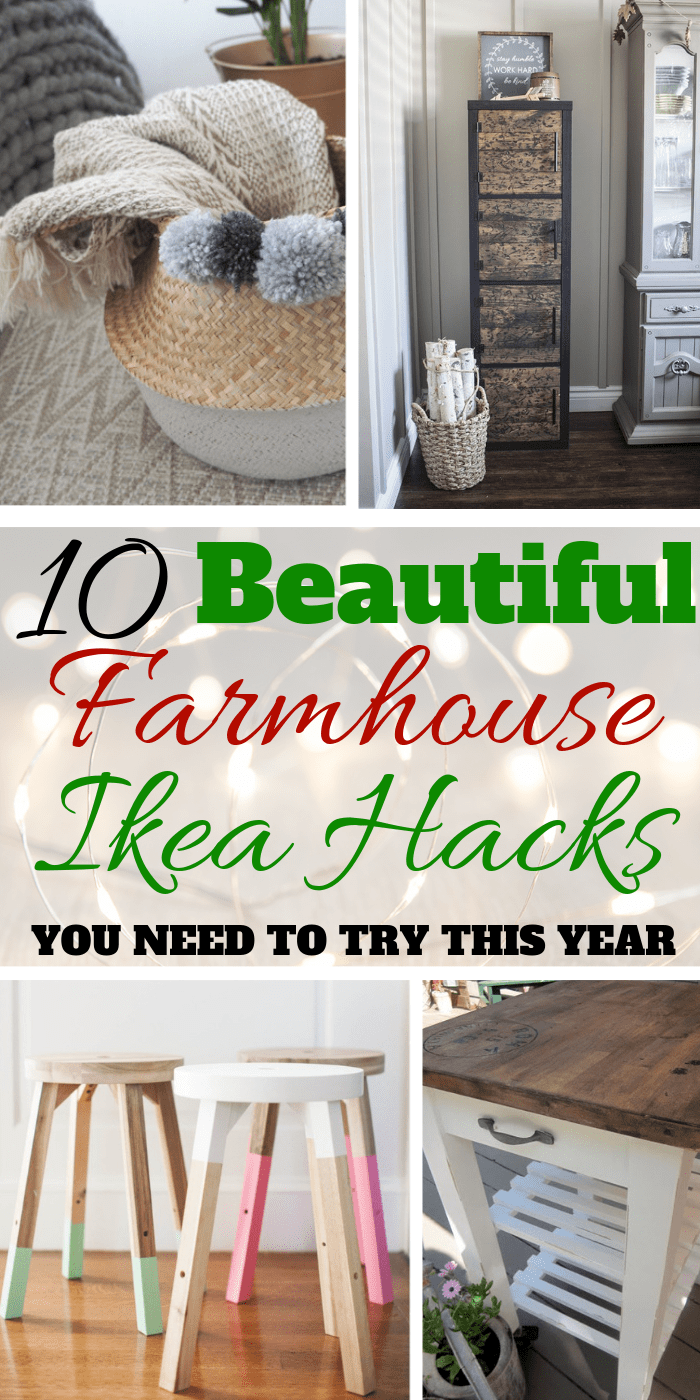 10 Farmhouse Ikea Hacks You Must See via: https://themummyfront.com #ikea #ikeahacks #ikeaides #farmhouse #farmhousestyledecor #farmhousedecor #homedecor #budgethomedecor #cheap #roomidea #themummyfront #homedecordiy #diy