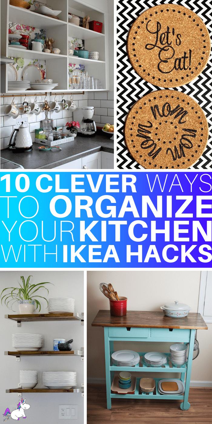 10 Stunning Kitchen IKEA Hacks That You Can Do On A Tiny Budget via themummyfront.com #kitchenhacks #ikeahacks #themummyfront #homedecoronabudget