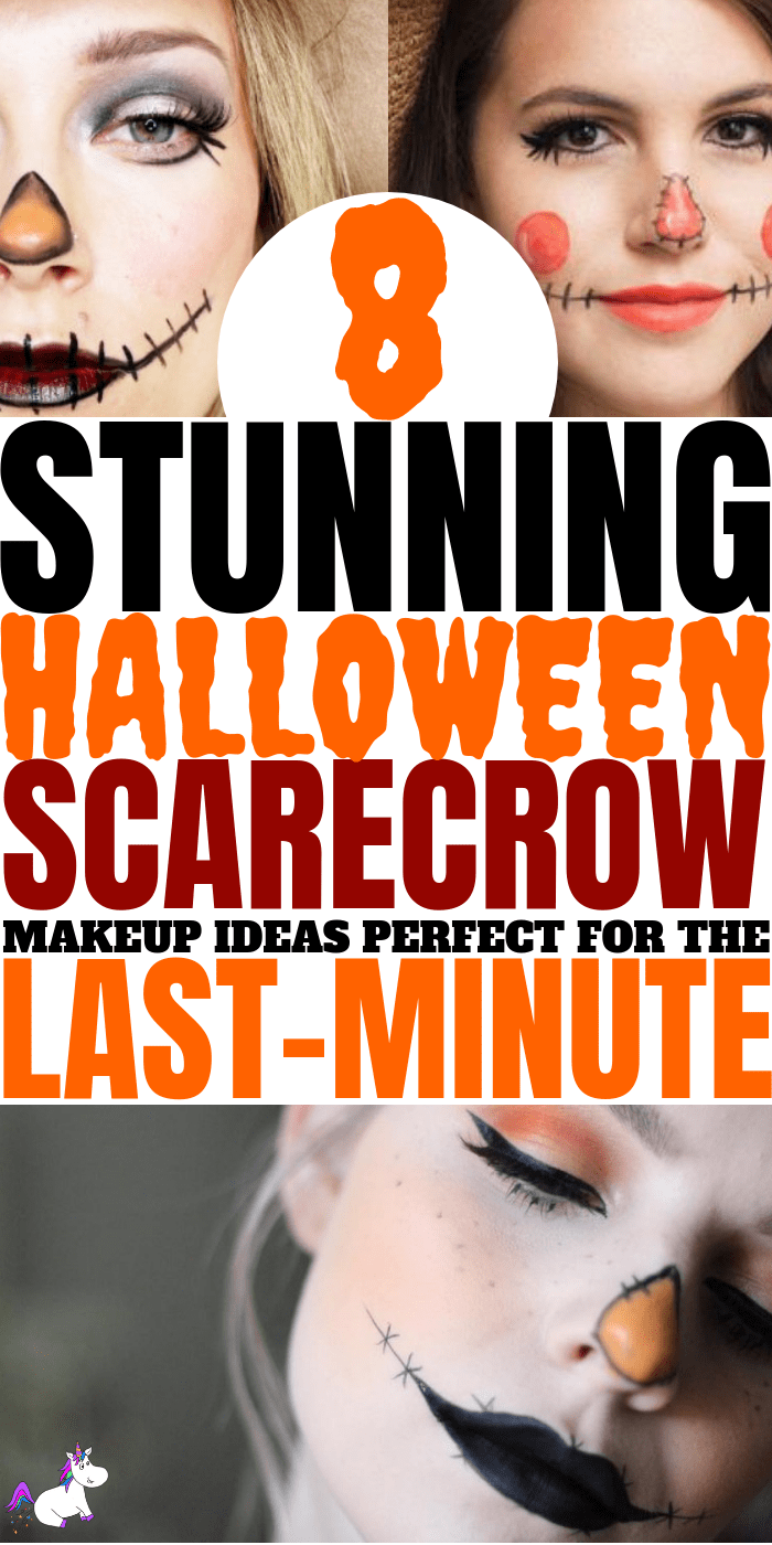 8 Stunning Scarecrow Makeup Ideas For A Last Minute Halloween Costume, quick and easy halloween makeup, easy diy halloween costume