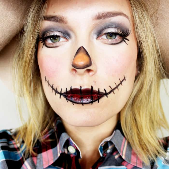Scarecrow Makeup ~ Last Minute Halloween Ideas That Look Great! Easy Halloween Scarecrow Tutorials