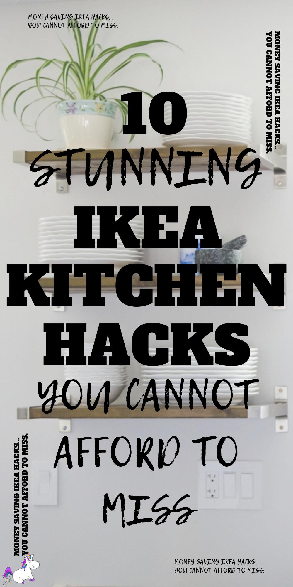 10 Stunning Ikea Kitchen Hacks You Cannot Afford To Miss   kitchen home decor   Home decor on a budget   Ikea kitchen   Via: https://themummyfront.com #themummyfront #ikeakitchenhacks #ikeahacks #homedecoronabudget #creativehomedecor