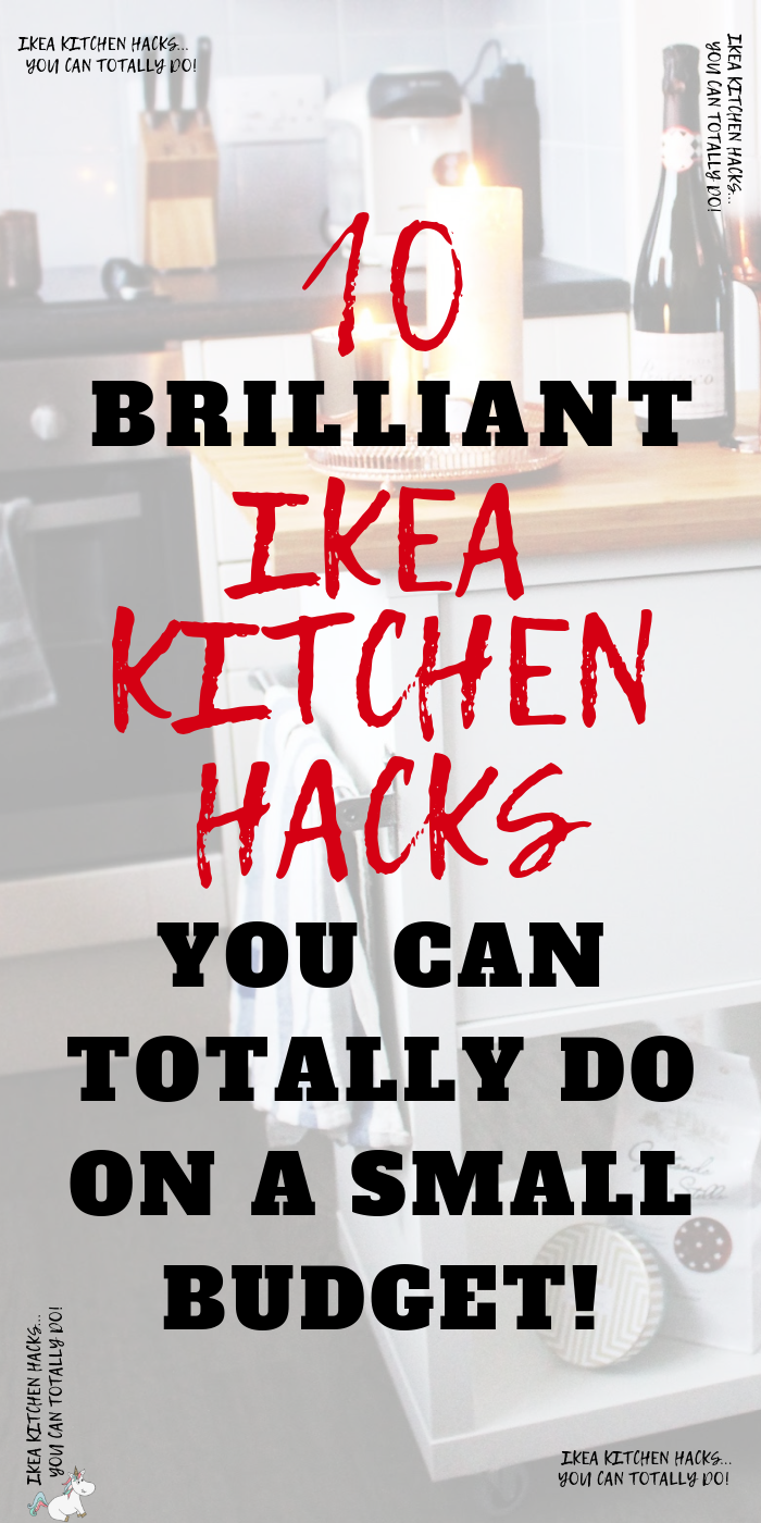 10 Stunning Ikea Kitchen Hacks You Can Totally do on a small budget! If you're looking to re-design or update your kitchen decor then don't miss these awesome kitchen Ikea hacks that will save you a ton of money!! #themummyfront