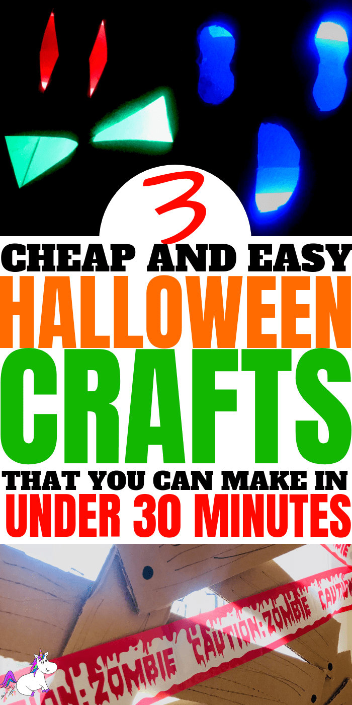 Easy Halloween Crafts ~ Cheap & Easy Halloween Craft For Kids in less than 30 Minutes | Awesome Cheap Halloween Party Idea #halloweencrafts #easyhalloweencrafts #kidscrafts #kidsartsandcrafts #diyhalloweendecorations