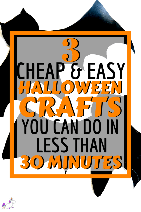 Easy Halloween Crafts ~ Cheap & Easy Halloween Craft For Kids in less than 30 Minutes | kids craft ideas | Halloween activities | Cheap halloween crafts via https://themummyfront.com #halloweencrafts #easyhalloweencrafts #themummyfront.com #kidscrafts #kidsartsandcrafts #diyhalloweendecorations