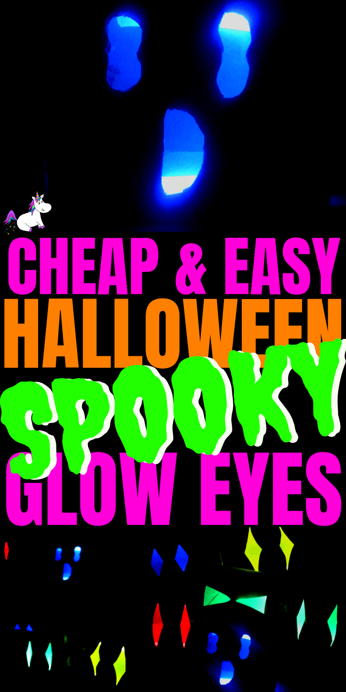 Easy Halloween Crafts ~ Cheap & Easy Spooky Glow Eyes Halloween Craft For Kids, Awesome Cheap Halloween Party Idea #halloweencrafts #easyhalloweencrafts #kidscrafts #kidsartsandcrafts #diyhalloweendecorations
