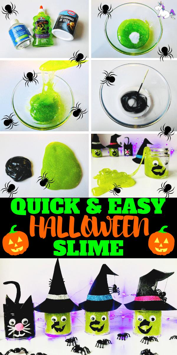 Halloween Slime Tutorial | Cute slime jars | Halloween slime jars your kids will adore | | easy slime recipe | Slime with glue | Slime no borax | halloween craft ideas | Diy halloween #halloween #kidscrafts #kidshalloweencraft #slime #halloweenslime