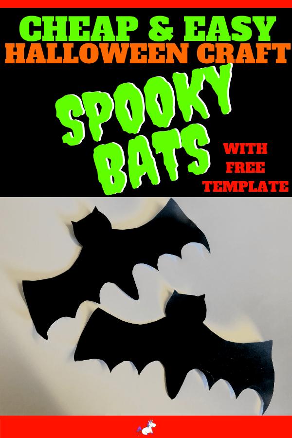 Easy Halloween Crafts ~ Cheap & Easy Spooky Bats Halloween Craft For Kids, Awesome Cheap Halloween Party Idea #halloweencrafts #easyhalloweencrafts #kidscrafts #kidsartsandcrafts #diyhalloweendecorations