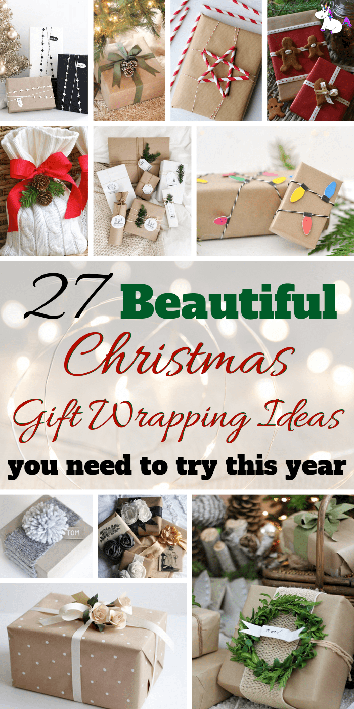 27 Christmas Gift Wrapping Ideas You'll Definitely Want To Try | No Fancy Gift Wrapping Techniques Required For These Stunning Present Wrapping Ideas | Christmas Gifts | Via https://themummyfront.com | Elegant Gift Wrapping | Gift Wrapping | #christmas #diychristmaswrapping #christmasgiftwrappingideas #christmasgifts #themummyfront #festivewrapping
