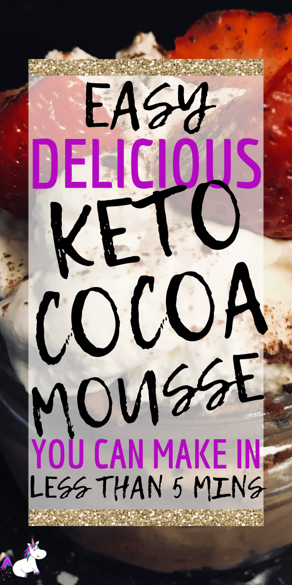 Delicious Keto Chocolate Mousse | In Under 5 Minutes | low carb dessert | keto dessert | Keto chocolate | keto recipes | Via: https://themummyfront.com #keto #ketochocolatemousse #ketodessert #ketorecipe #themummyfront.com #lowcarb #ketogenic #chocolatemousse low carb dessert