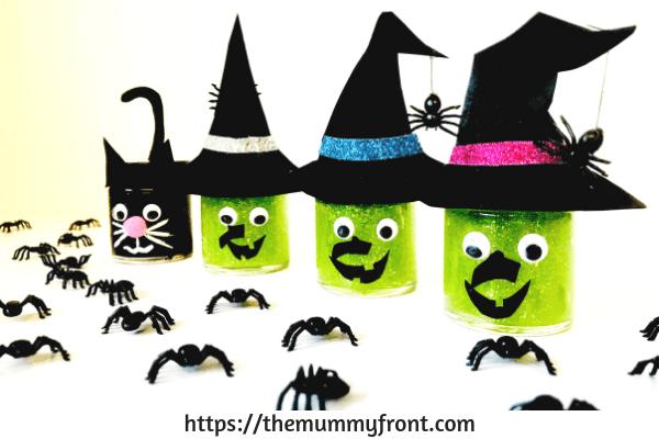 Halloween Slime - The best Halloween slime jar tutorial   cute halloween craft   slime jars   easy slime recipe