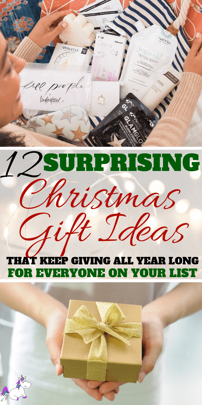 12 Surprising Gifts That Keep Giving All Year Long, Save money this christmas by giving thoughtful gifts that let people know how much you appreciate them. These gift ideas include something for everyone, so whether you're looking for gifts for mom, dad, siblings or children, this christmas gift guide has the perfect gift idea this year! via: https://themummyfront.com #giftsthatkeepgiving #christmasgifts #giftideas #bestgifts #giftsformom #giftsforher #giftsfordad #giftsforhim